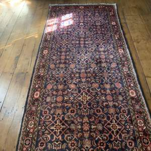 Superb Quality Old Hand Knotted Persian Runner Hamadan-Area