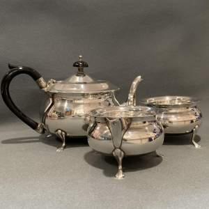 Silver Plated Teapot Cream Jug And Sugar Basin