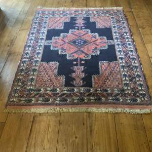 Stunning Hand Knotted Persian Rug Afshar With Killim Ends Unusual