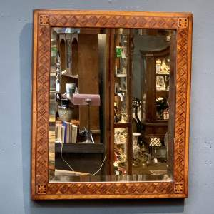 19th Century Marquetry Inlaid Mirror
