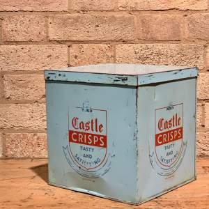 Vintage Castle Crisps Tin