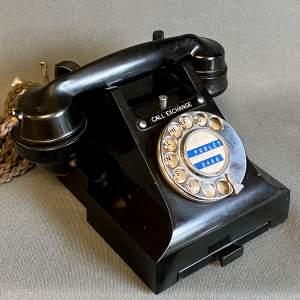Vintage 3-Series Black Bakelite Telephone