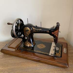 Jones Family C. S Hand Sewing Machine with Tools and Instructions