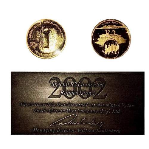 2002 South Africa Gold Proof 2 Coin  - Freedom Set image-1