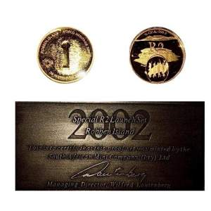 2002 South Africa Gold Proof 2 Coin  - Freedom Set