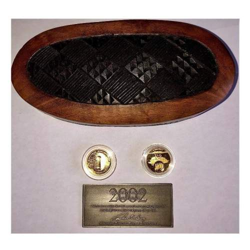 2002 South Africa Gold Proof 2 Coin  - Freedom Set image-2
