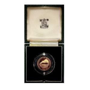 1990 Pitcairn Islands Gold Proof $250 commemorative coin