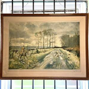 Limited Edition 20th Century Hunting Print