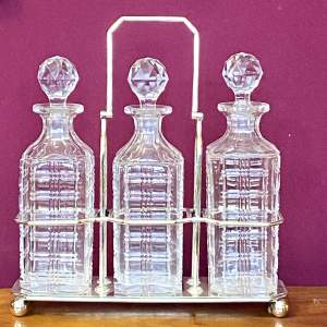 20th Century Silver Plated Three Decanter Holder