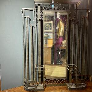 Early 20th Century French Wrought Iron Hallstand