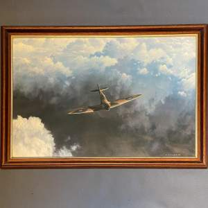 Large Print - Out Of The Clouds - Spitfire By Gerald Coulson