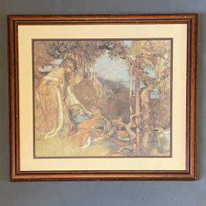 Print  - Prince And The King By Sir William Russell Flint