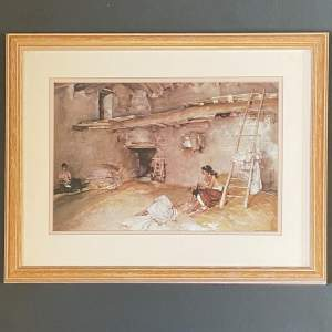 Print Of A Scrap Of Newspaper By William Russell Flint