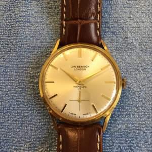 Benson Of London Swiss Manual Wind Gold Plated Wristwatch