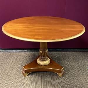 Regency Revival Mahogany Breakfast Table