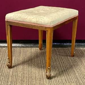 20th Century Upholstered Mahogany Stool