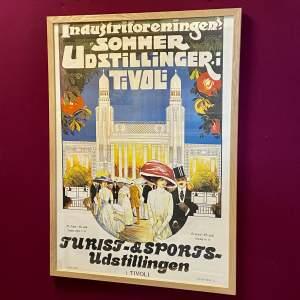 Vintage Tivoli Copenhagen Print