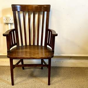 Arts and Crafts Walnut Armchair