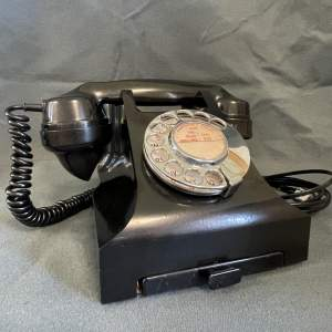 Vintage Series 332 Black Bakelite GPO Telephone