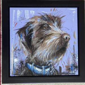 Samantha Ellis Original Oil Painting titled Furry Friend