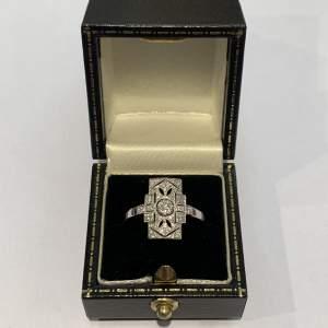 Art Deco Style Modern S.H. Diamond Ring