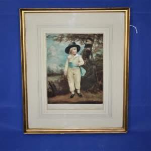 Edwardian Print of a Regency Boy