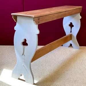 Mahogany Gothic Style Bench