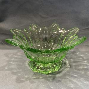 Early 20th Century Art Deco Sowerby Green Bowl