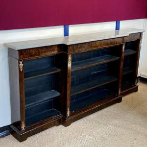 Regency Style Bookcase with Marble Top