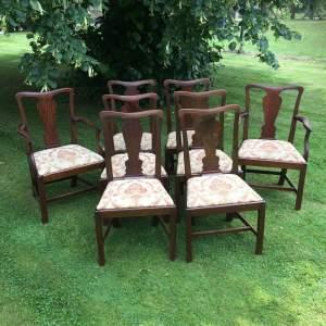 Eight George III Mahogany Dining Chairs