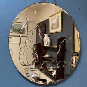 Art Deco Pink Mirror