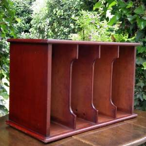 Antique Early 20th Century Stained Pine Pigeon Hole Letter Rack