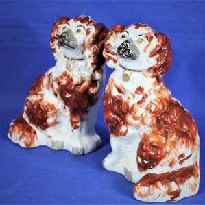 Pair of Victorian Ceramic Staffordshire Spaniels