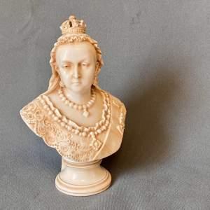 Parian Ware Bust Of Queen Victoria