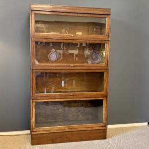Globe Wernicke Four Tier Stacking Bookcase