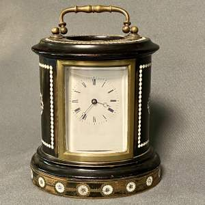 French Wooden Cased Carriage Clock