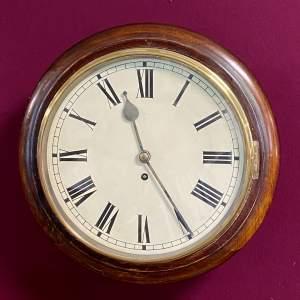 Early 20th Century Mahogany Cased Fusee Wall Clock