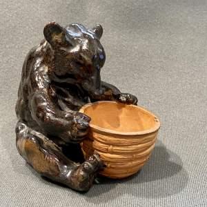 Royal Doulton Stoneware Bear with Honey Pot Figure