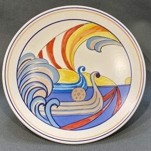 Poole Pottery Studioware Viking Design Plate