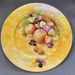 Hand Painted Keith Hancock Worcester Style Fruit Plate