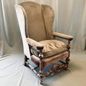 Good Quality Victorian Upholstered Wingback Armchair