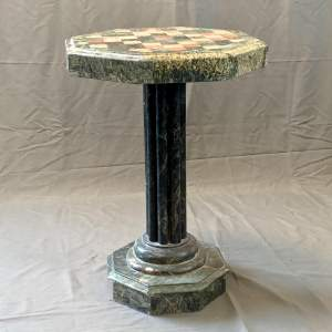 Italian Marble Chequered Top Table