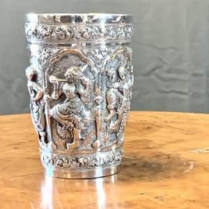 19th Century Burmese Silver Chalice