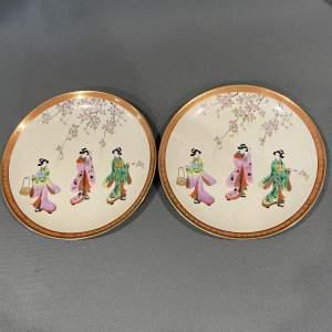 20th Century Pair Of Noritake Plates