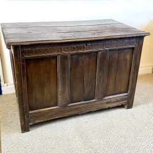 17th Century Large Oak Coffer
