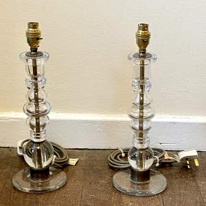 Pair of Early 20th Century Glass Lamps