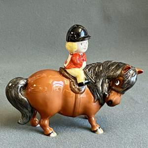 Beswick Angel on Horseback by Norman Thelwell