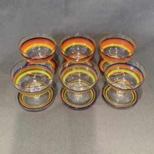 Mid 20th Century Set Of Six Glass Sundae Dishes