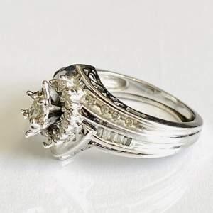 10ct Gold Diamond Bridal Ring Set