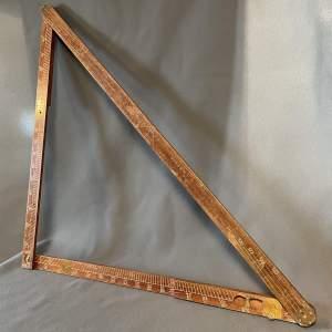 Vintage Surveyors Measuring Stick
